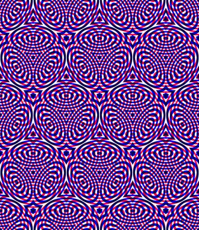pellucid: Bright symmetric seamless pattern with interweave figures