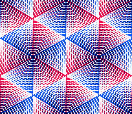 Endless colorful symmetric pattern, graphic design