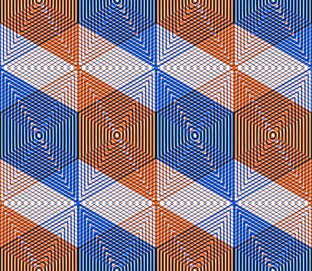 pellucid: Geometric seamless pattern, endless colorful transparent regular background