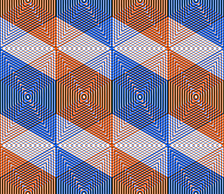 Geometric seamless pattern, endless colorful transparent regular background