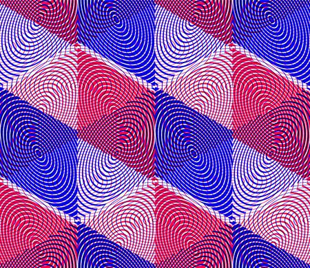illusory: Brillante patr�n geom�trico abstracto ilusoria sin fisuras con figuras geom�tricas en 3D. Vector de superposici�n transparente de fondo.