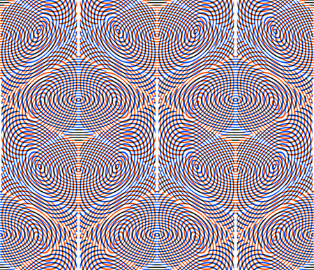 splice: Bright illusory abstract geometric seamless pattern with 3d geometric figures