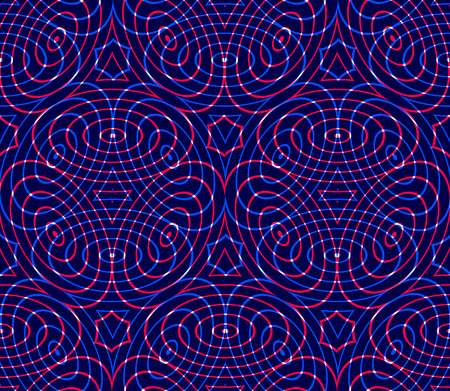 pellucid: Regular colorful endless pattern with intertwine three-dimensional figures Illustration