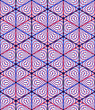 superimpose: Endless colorful symmetric pattern, graphic design