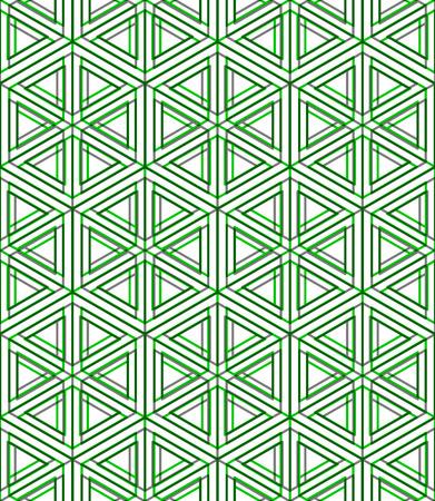 illusory: Bright illusory abstract geometric seamless pattern with 3d geometric figure