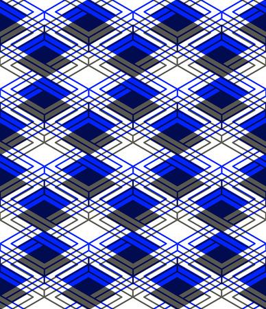 entwine: Endless colorful symmetric pattern, graphic design