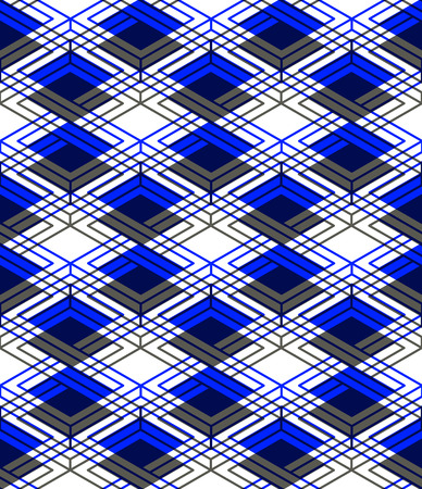 Endless colorful symmetric pattern, graphic design