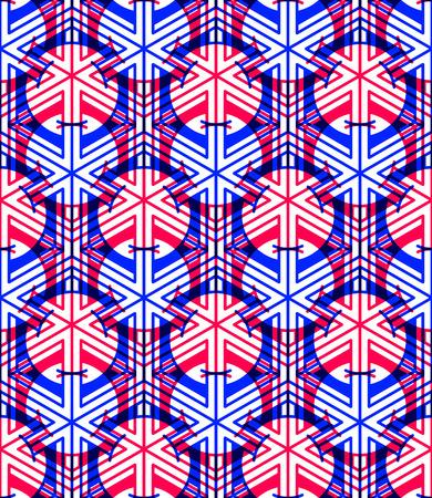 splice: Bright symmetric seamless pattern with interweave figures