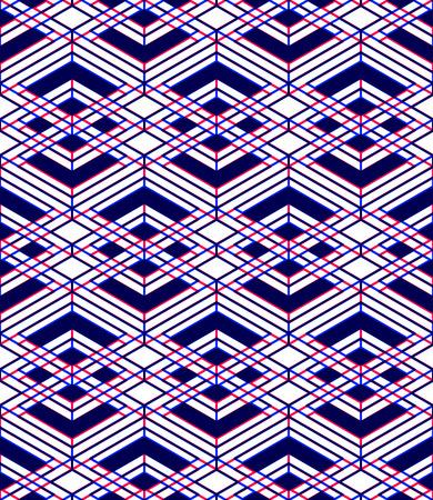 entwine: Seamless ottica ornamentale con tridimensionale figure geometriche Vettoriali