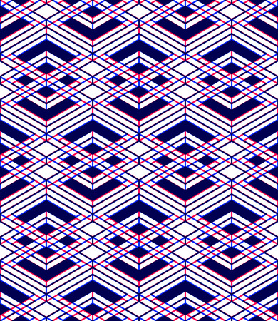 Seamless optical ornamental pattern with three-dimensional geometric figures
