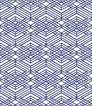 visual effect: Seamless optical ornamental pattern with three-dimensional geometric figures
