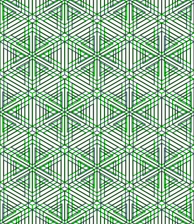 Colorful illusive abstract geometric seamless 3d pattern with transparency effects