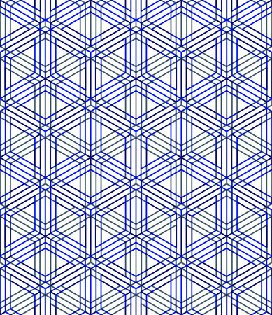 splice: Colored abstract interweave geometric seamless pattern