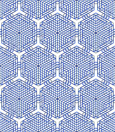 interweave: Colored abstract interweave geometric seamless pattern