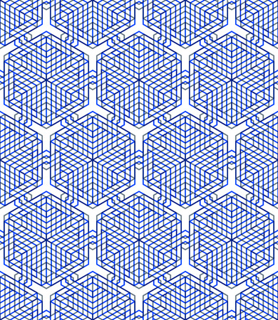 Colored abstract interweave geometric seamless pattern