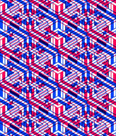 symmetric: Bright symmetric seamless pattern with interweave figures