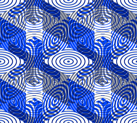 pellucid: Colorful illusive abstract geometric seamless 3d pattern with transparency effects