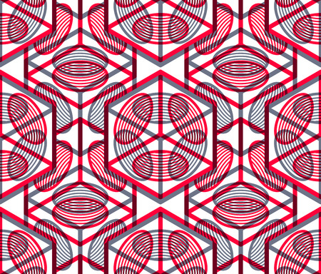 interweave: Colored abstract interweave geometric seamless pattern