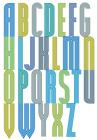triple: Bright geometric decorative triple font, drop caps.