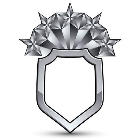 glorioso: gloriosa elemento de design brilhante com luxo 3d estrela de prata