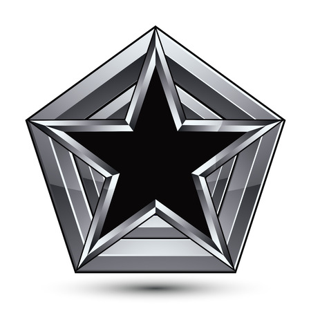 the silvery: Silvery blazon with pentagonal black star