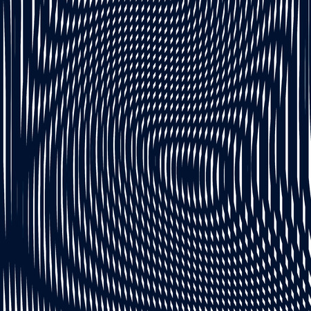 interference: Striped  psychedelic background with black and white moire lines
