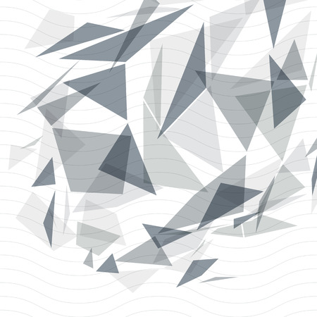 smudge: Grayscale op art design backdrop, abstract futuristic stylish blur background with smudge spots and polygonal figures