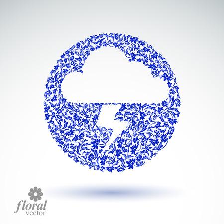 meteorology: Thunder and lightning meteorology pictogram