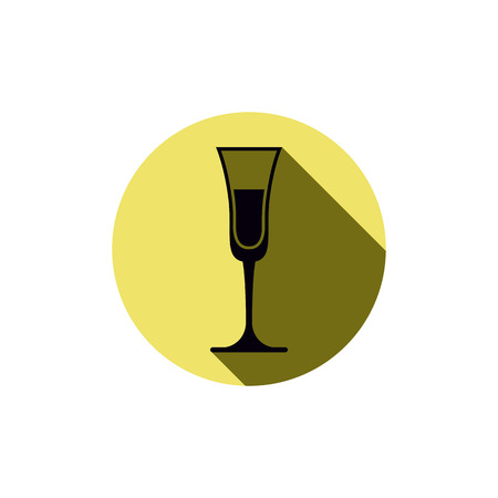 bocal: Alcohol theme icon, champagne goblet placed in a circle
