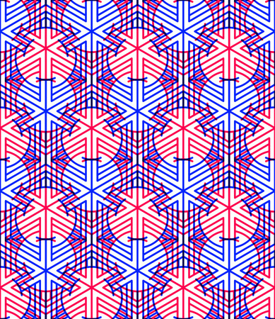 interweave: Bright symmetric seamless pattern with interweave figures