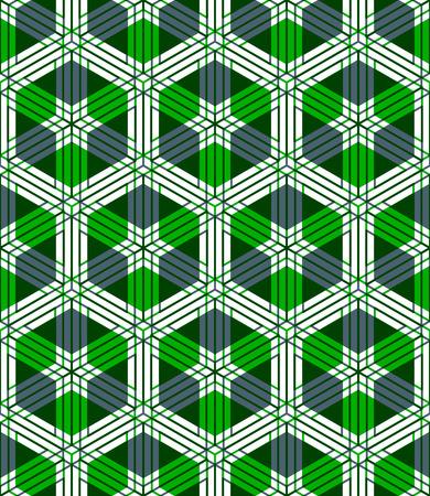 entwine: Illusive continuo modello colorato, decorativo astratto con figure geometriche 3d