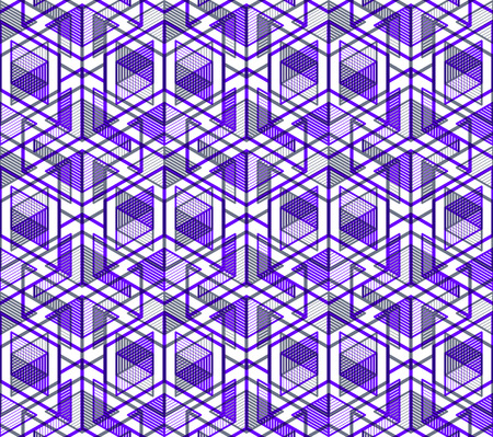 regular: Graphic seamless abstract pattern, regular geometric colorful 3d background