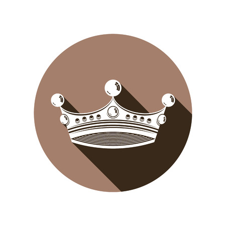 regal: Royal design element, regal icon. Stylish majestic 3d crown, luxury coronet illustration Illustration