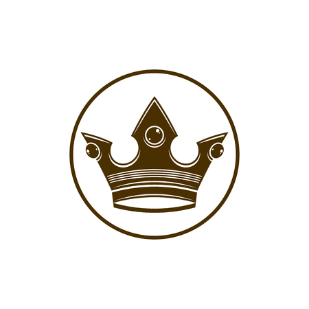 coronet: 3d vintage crown, luxury coronet illustration.