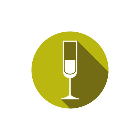 revelry: HoReCa graphic element, champagne glass Illustration