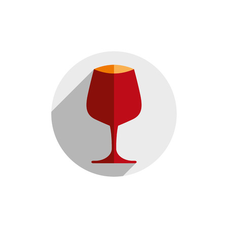 revelry: Winery theme, decorative stylish wine goblet Illustration