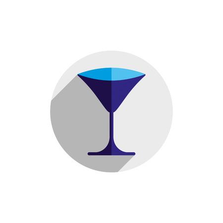 sophisticated: HoReCa graphic element, sophisticated martini glass Illustration