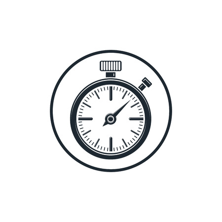 interim: Old-fashioned pocket watch, graphic illustration