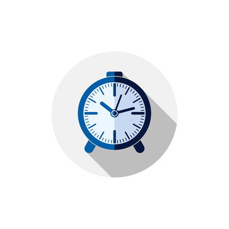 interim: Classic three-dimensional alarm-clock isolated on white