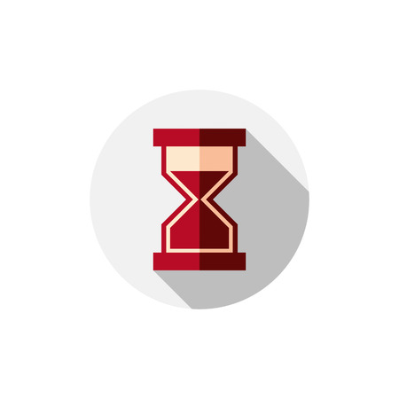 interim: Time conceptual stylized icon. Old-fashioned hourglass isolated on white Illustration