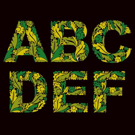 drop cap: Decorative typescript with natural pattern