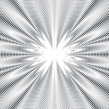 hypnotic: Relaxing hypnotic background with geometric black lines.