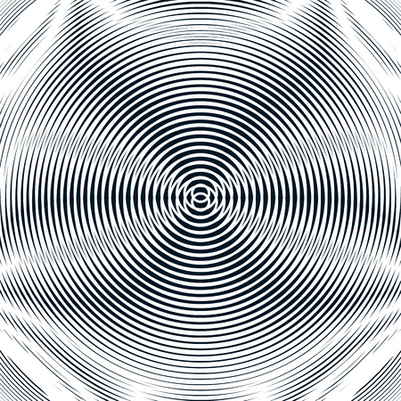 undulate: Decorative lined hypnotic contrast background. Optical illusion, creative black and white graphic moire backdrop.