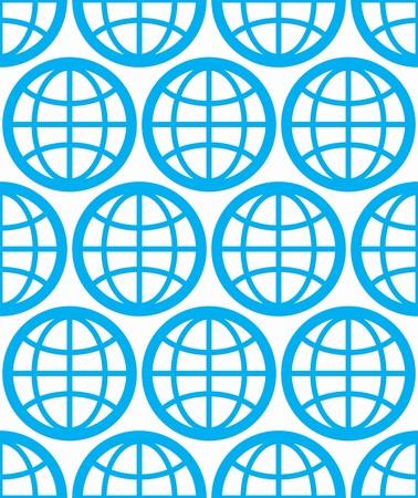 zeměpisný: Globes bezproblémové vektorové pozadí, planet koncepční znak. Opakovaná pozadí s modrá země symboly, geografické nápad.