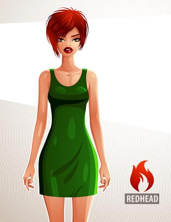 frau ganzk�rper: Wundersch�ne wei�e Haut-Frau tr�gt ein elegantes Kleid, Ganzk�rper-Portrait. Attraktive Dame mit einem stilvollen Make-up isoliert auf wei�em Hintergrund.