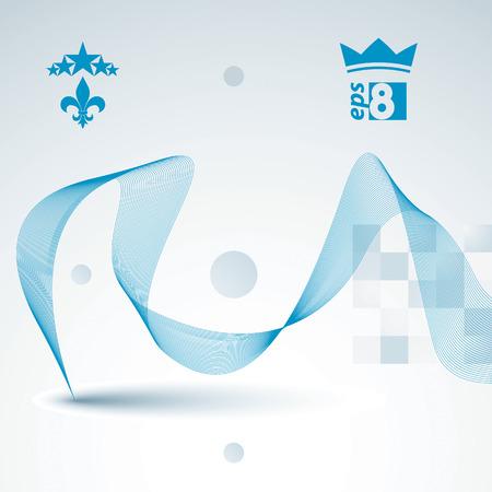 eps8: Elegant flowing lines vector background, royal design, eps8. Romantic refined abstract textile backdrop. Illustration
