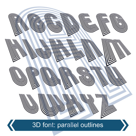 typescript: Geometric typescript in rotation, 3d industrial characters. Illustration