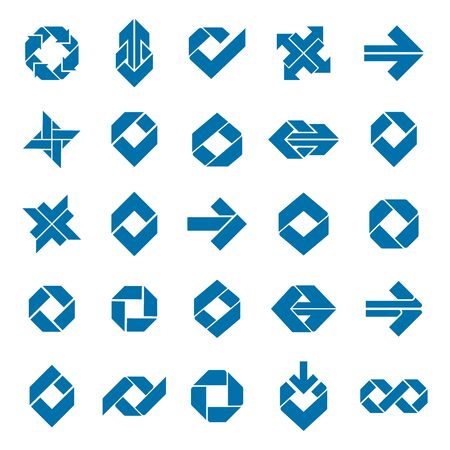 graphic elements: Abstract creative icons vector collection, abstract business design elements set.