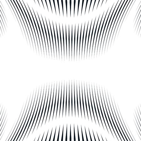 moire: Illusive background with black chaotic lines, moire style. Contrast geometric trance pattern. Illustration