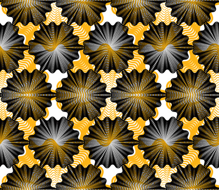 intertwine: Colorful vector ornamental pattern, seamless art background decorated with lines, best for graphic and web design. Geometric ornate overlapping decoration.